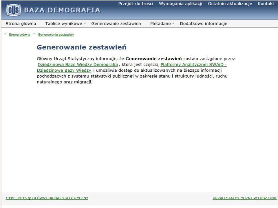 System Edukacji Statystycznej Funkcjonalności cd.