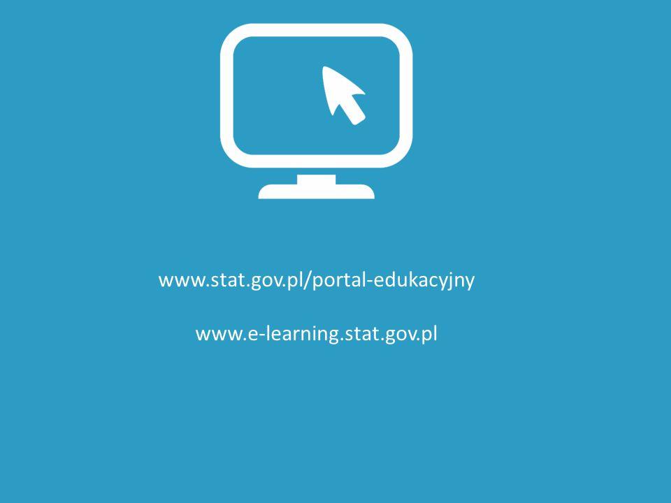 www.stat.gov.pl/portal-edukacyjny www.e-learning.stat.gov.pl
