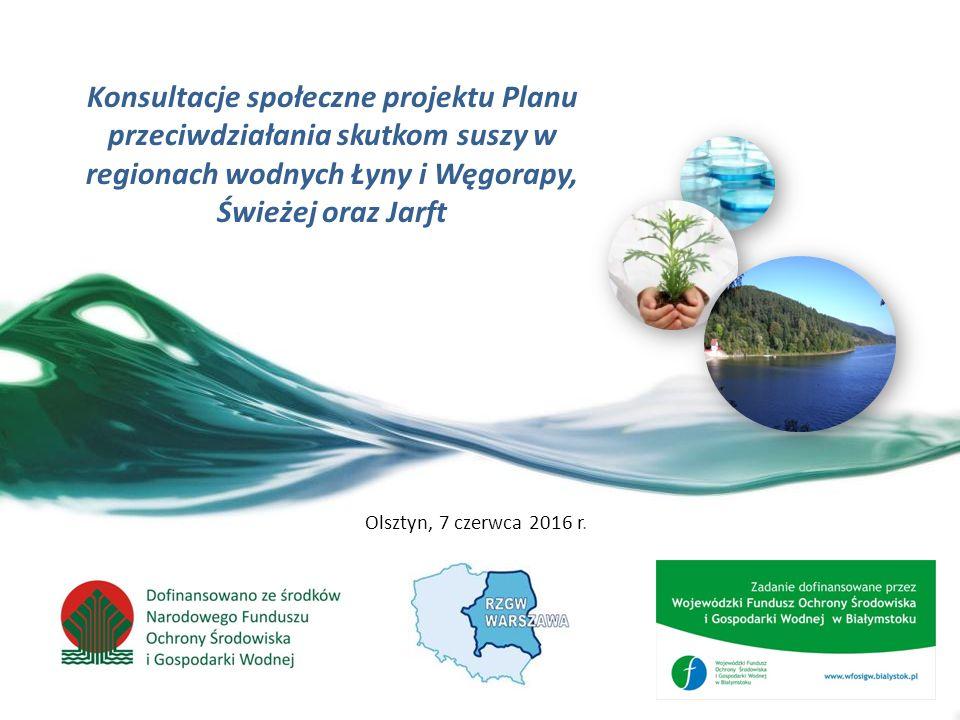 Możliwości powiększenia dyspozycyjnych zasobów wodnych 62 Wnioski możliwe i celowe jest zwiększanie dyspozycyjnych zasobów wodnych w regionach wodnych Łyny i Węgorapy, Świeżej oraz Jarft powiększanie aktualnych dyspozycyjnych zasobów wodnych jest celowe z uwagi na prognozowane wydłużanie i pogłębianie się okresów suszy atmosferycznej, glebowej, a w konsekwencji hydrologicznej