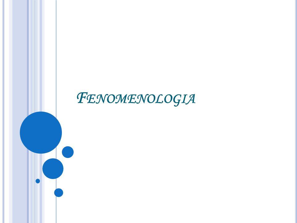F ENOMENOLOGIA