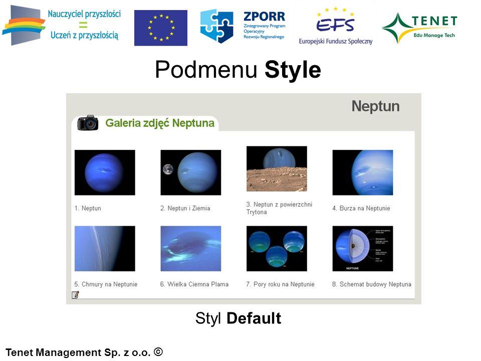 Styl Default Podmenu Style