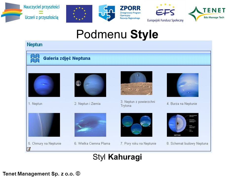 Styl Kahuragi Tenet Management Sp. z o.o. © Podmenu Style