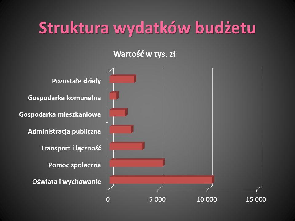 Struktura wydatków budżetu