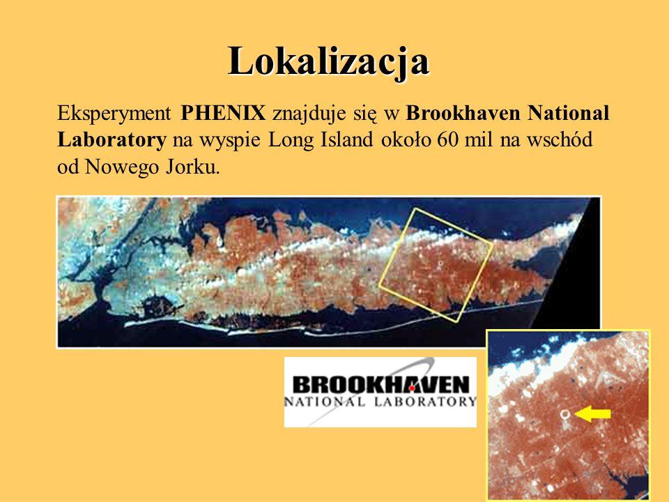 Lokalizacja Eksperyment PHENIX znajduje się w Brookhaven National Laboratory na wyspie Long Island około 60 mil na wschód od Nowego Jorku.
