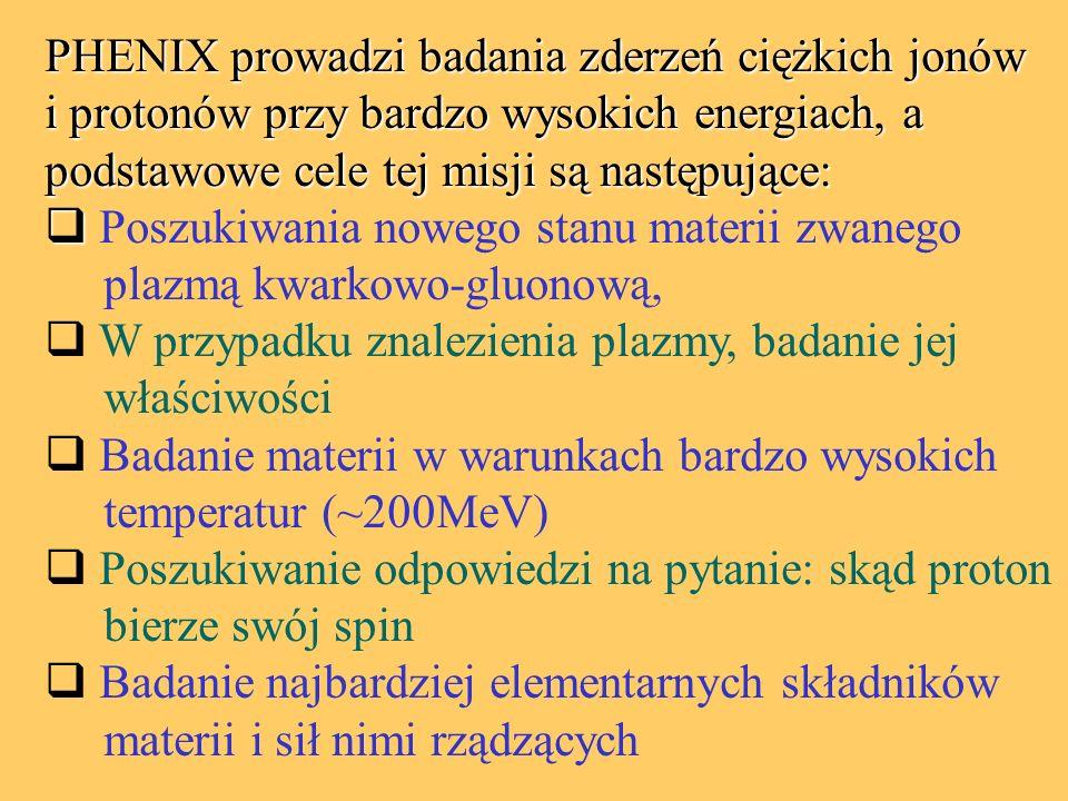 PHENIX prowadzi badania zderzeń ciężkich jonów i protonów przy bardzo wysokich energiach, a podstawowe cele tej misji są następujące:   Poszukiwania nowego stanu materii zwanego plazmą kwarkowo-gluonową,  W przypadku znalezienia plazmy, badanie jej właściwości  Badanie materii w warunkach bardzo wysokich temperatur (~200MeV)  Poszukiwanie odpowiedzi na pytanie: skąd proton bierze swój spin  Badanie najbardziej elementarnych składników materii i sił nimi rządzących