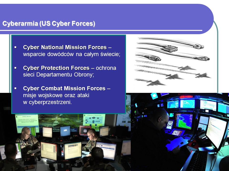 Dokumenty odnoszące się do bezpieczeństwa cybernetycznego  Narodowa Strategia Bezpieczeństwa (NSS) z 2010 r.;  Narodowa Strategia Obrony (NDS) z 2012 r.;  Narodowa Strategia Wojskowa (NMS) z 2011 r.;  Czteroletni Przegląd Obronny (QDR) z 2014 r.;  Narodowa Strategia Zaufanej Tożsamości w Cyberprzestrzeni z 2011;  Narodowa strategia operacji wojskowych w cyberprzestrzeni (NMS- CO) z 2006 r;  Narodowa Strategia dla Bezpiecznej Cyberprzestrzeni z 2003 r.;  Narodowa Strategia Fizycznej Ochrony Infrastruktury Krytycznej i Kluczowych Zasobów z 2003 r.;  Wszechstronna Inicjatywa Bezpieczeństwa Cybernetycznego (CNCI);  Przegląd pt.