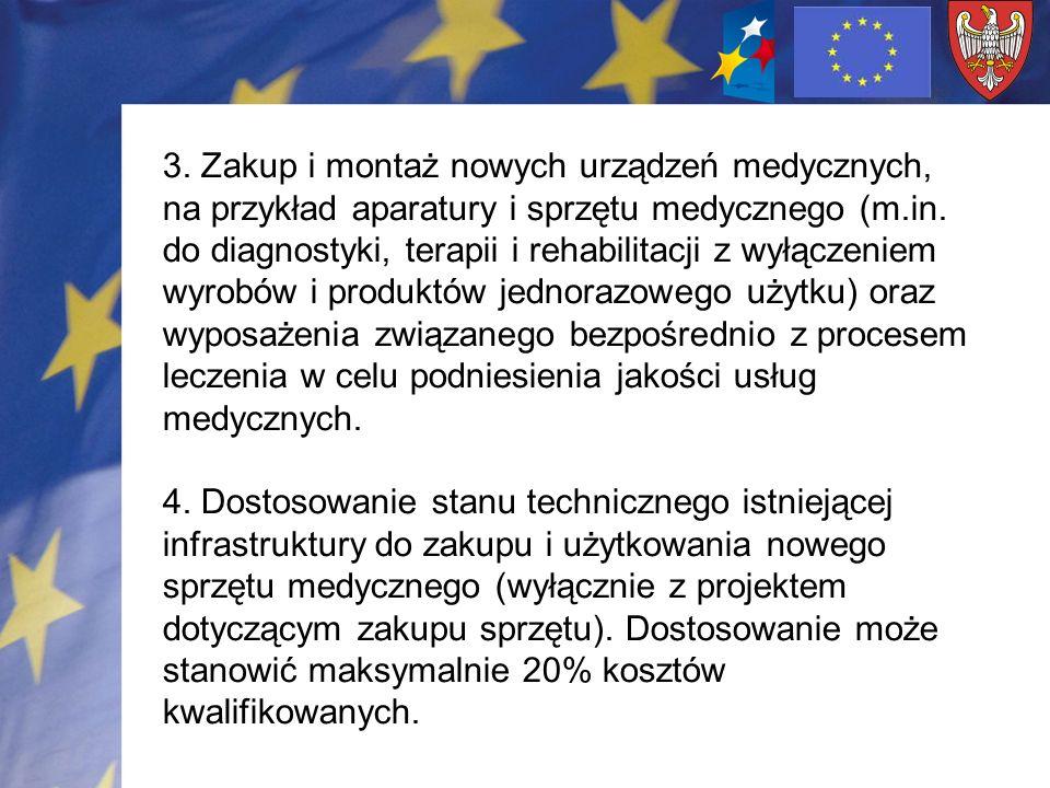 Alokacja finansowa na działanie ogółem 70,160 mln Euro Refundacja: Maks.