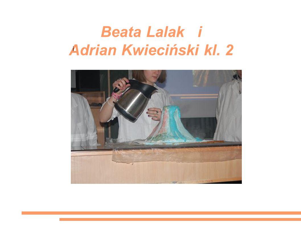 Beata Lalak i Adrian Kwieciński kl. 2 i