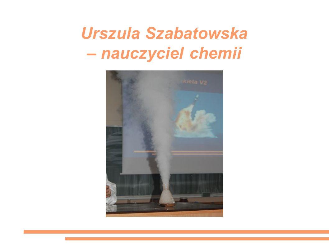 Urszula Szabatowska – nauczyciel chemii