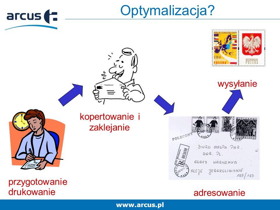 www.arcus.pl wysyłanie kopertowanie i zaklejanie Optymalizacja.