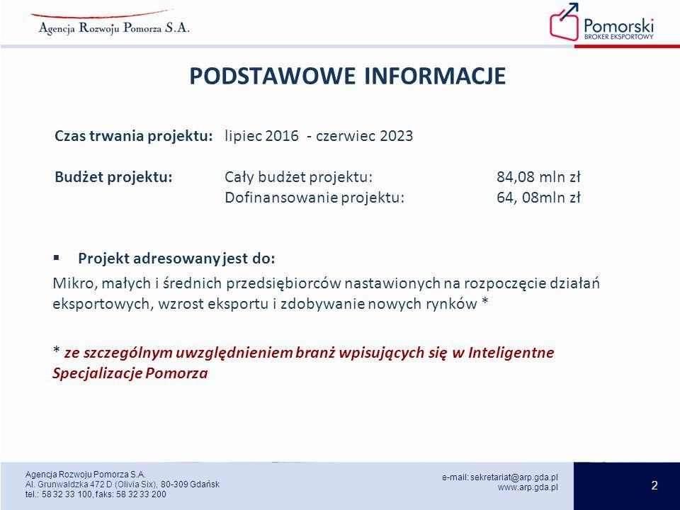 2 e-mail: sekretariat@arp.gda.pl www.arp.gda.pl Agencja Rozwoju Pomorza S.A.