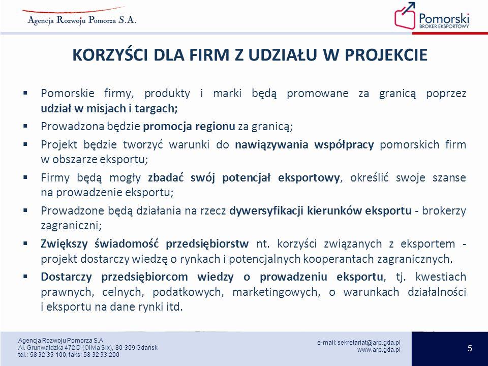 5 e-mail: sekretariat@arp.gda.pl www.arp.gda.pl Agencja Rozwoju Pomorza S.A.