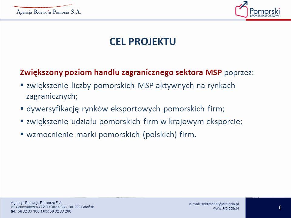 6 e-mail: sekretariat@arp.gda.pl www.arp.gda.pl Agencja Rozwoju Pomorza S.A.