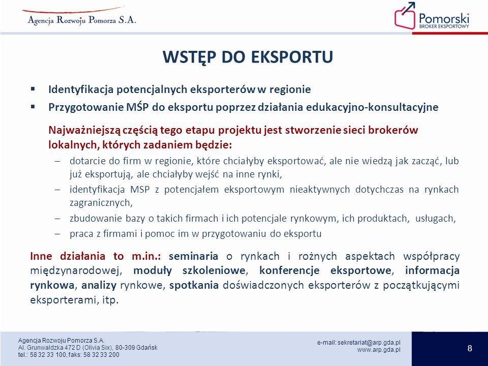 8 e-mail: sekretariat@arp.gda.pl www.arp.gda.pl Agencja Rozwoju Pomorza S.A.
