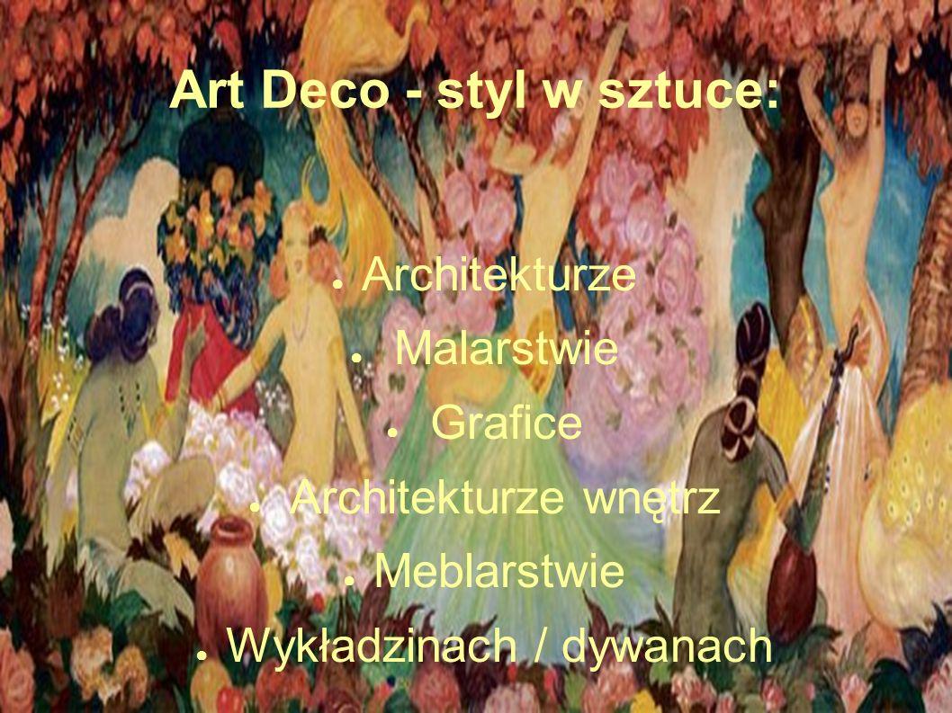 Przykłady mebli w stylu Art Deco Projekty Eileen Gray (1878-1976), irlandzkiej designerki, która odeszła do dominujących wpływów japońskich i stworzyła kilka wspaniałych mebli awangardowych (część zaprojektowana do domu nazwanego E 1027) są przykładem ścierania się dwóch tendencji: funkcjonalizmu zmysłowego , czyli art-deco, kojarzącego się z drogim rzemiosłem i funkcjonalizmu umysłowego , czyli stylu Bauhausu, wypracowanego w niemieckim Bauhausie pod wpływem elementaryzmu De Stijlu, kojarzącego się ze standaryzacją i masową produkcją przemysłową.