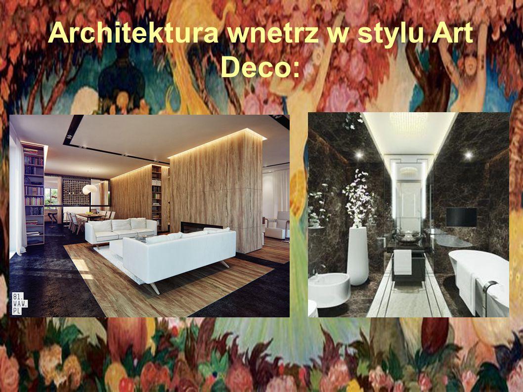 Architektura wnetrz w stylu Art Deco: