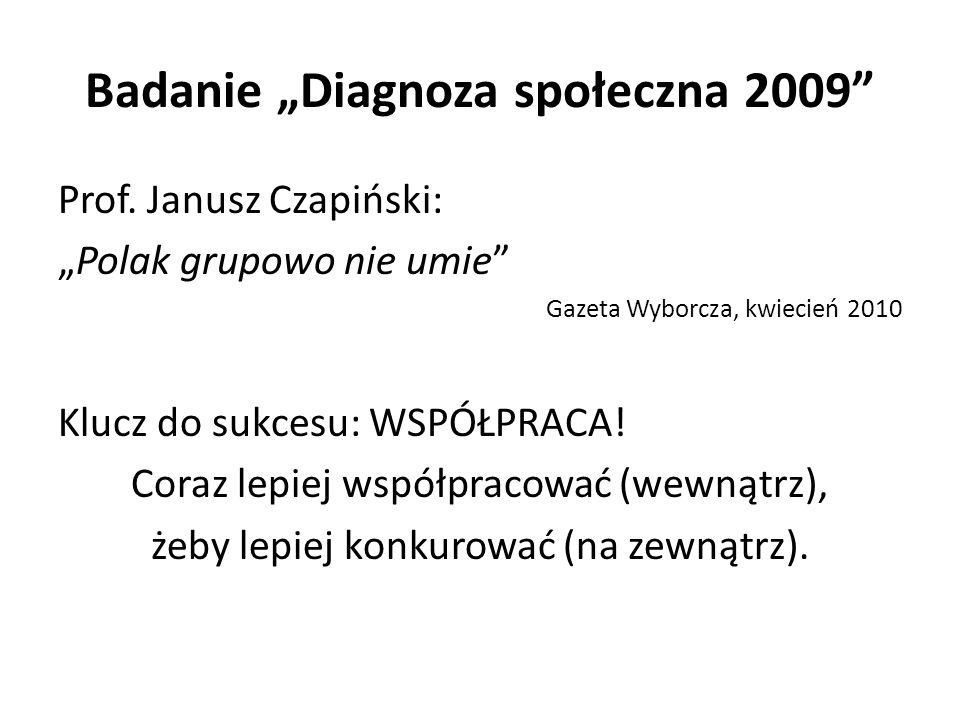 """Badanie """"Diagnoza społeczna 2009 Prof."""