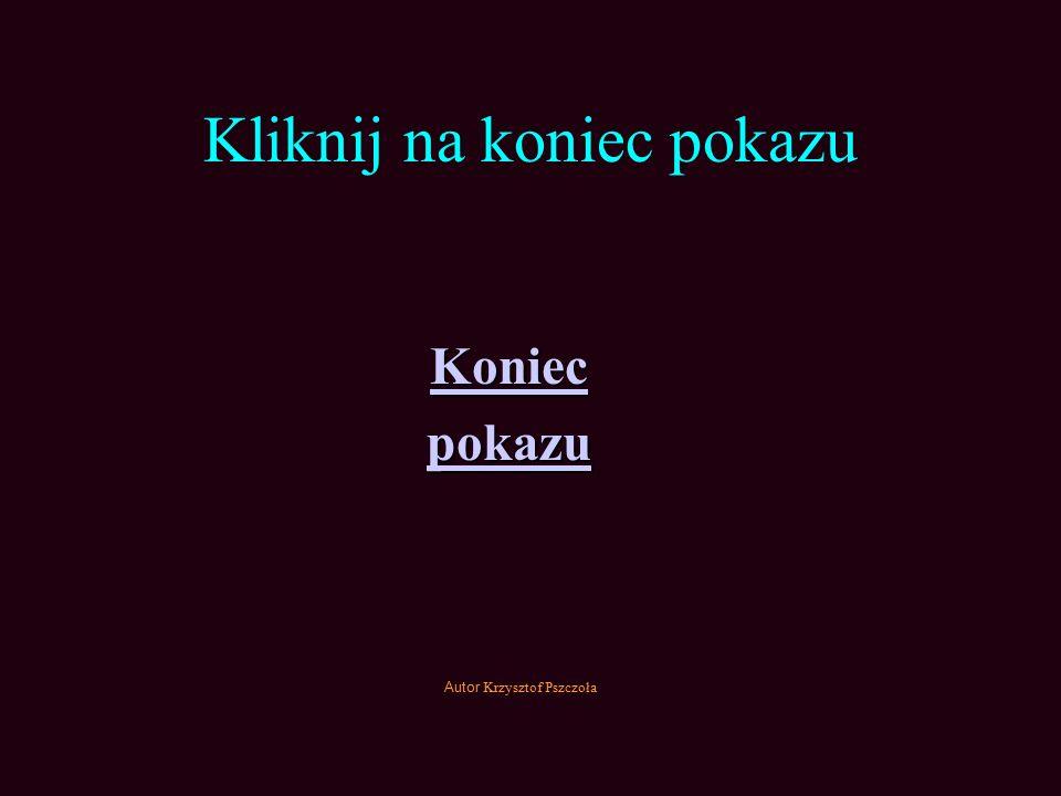 Kliknij na koniec pokazu Koniec pokazu Autor Krzysztof Pszczoła