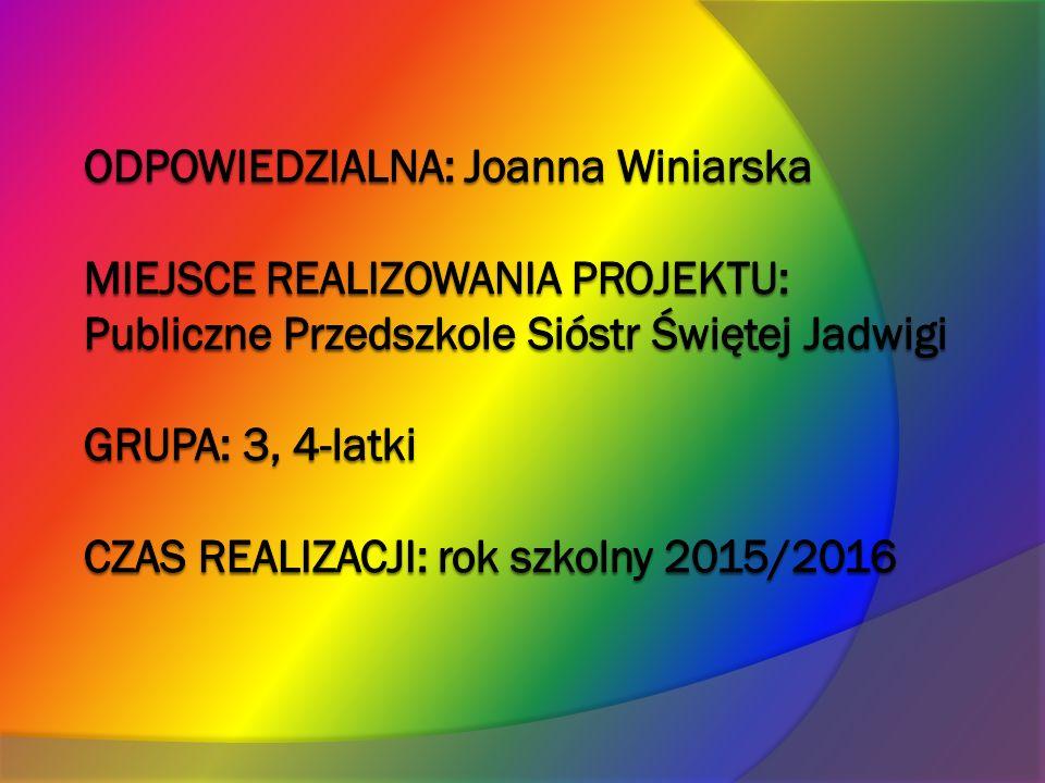 """ZAŁOŻENIA PROJEKTU: Wisława Szymborska napisała kiedyś: """"Czytanie książek to najpiękniejsza zabawa, jaką sobie ludzkość wymyśliła ."""