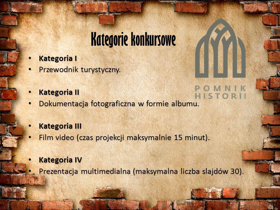 Kategorie konkursowe Kategoria I Kategoria I Przewodnik turystyczny.