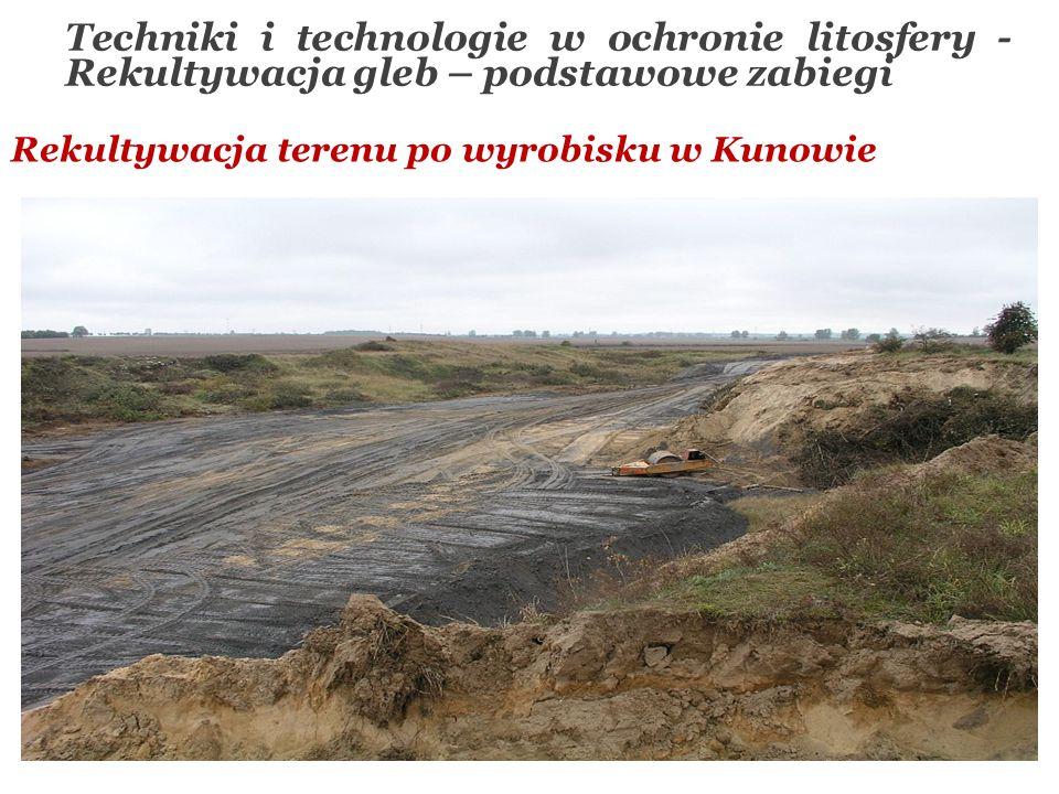 Rekultywacja terenu po wyrobisku w Kunowie Techniki i technologie w ochronie litosfery - Rekultywacja gleb – podstawowe zabiegi
