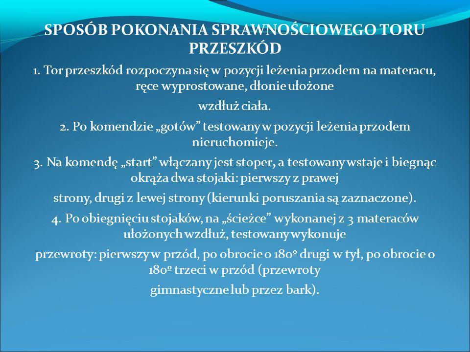 SPOSÓB POKONANIA SPRAWNOŚCIOWEGO TORU PRZESZKÓD 1.