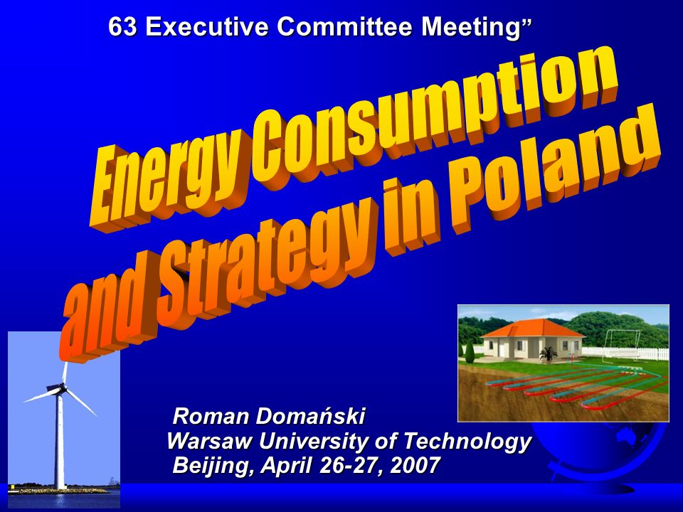 Primary energy consumption in Poland Wariant I – Economic growth rate about 3.5% Wariant II – Economic growth rate 4.5% Problems with CO 2