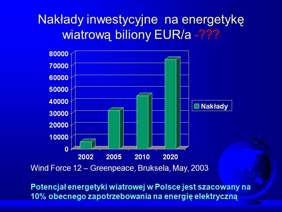 Energetyka wiatrowa na Świecie Dominacja Niemiec w rozwoju energetyki wiatrowej w roku 2006 ok. 13000 MW