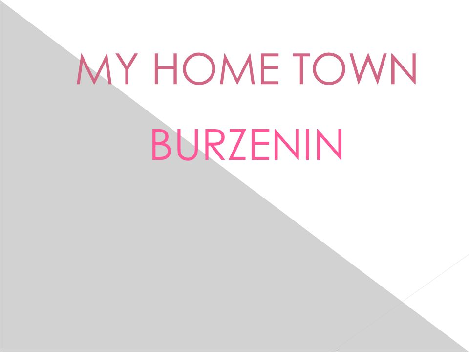 MY HOME TOWN BURZENIN