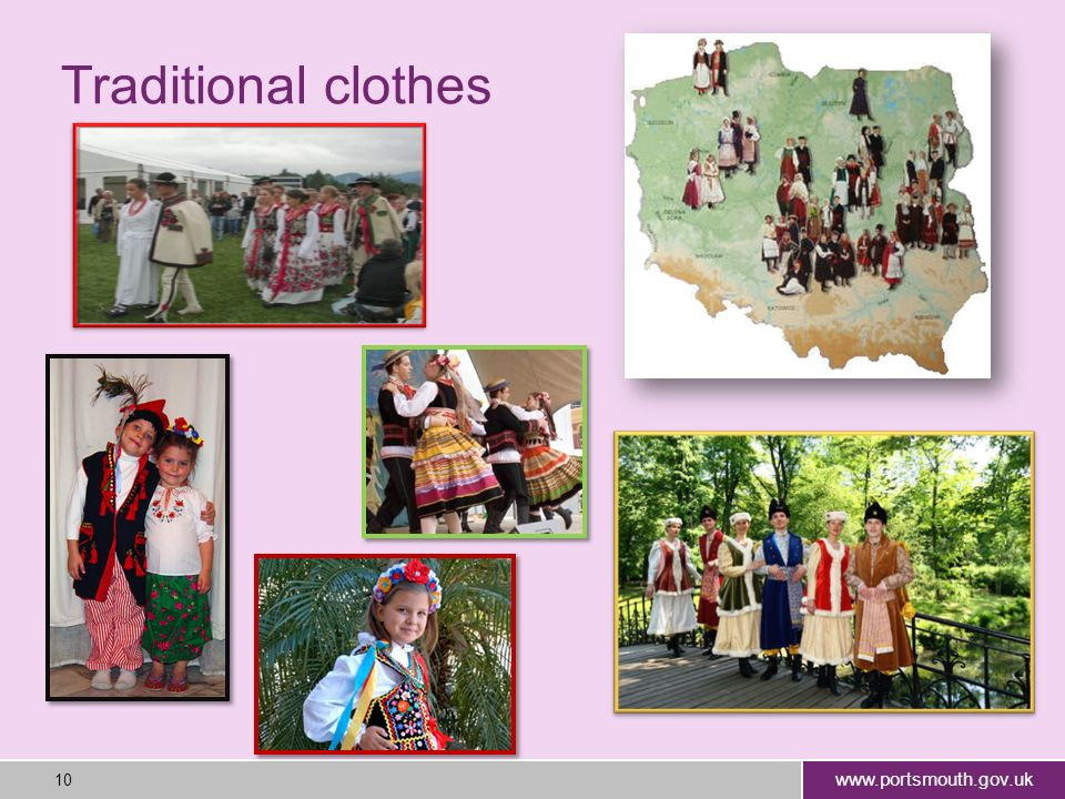 www.portsmouth.gov.uk 10 Traditional clothes