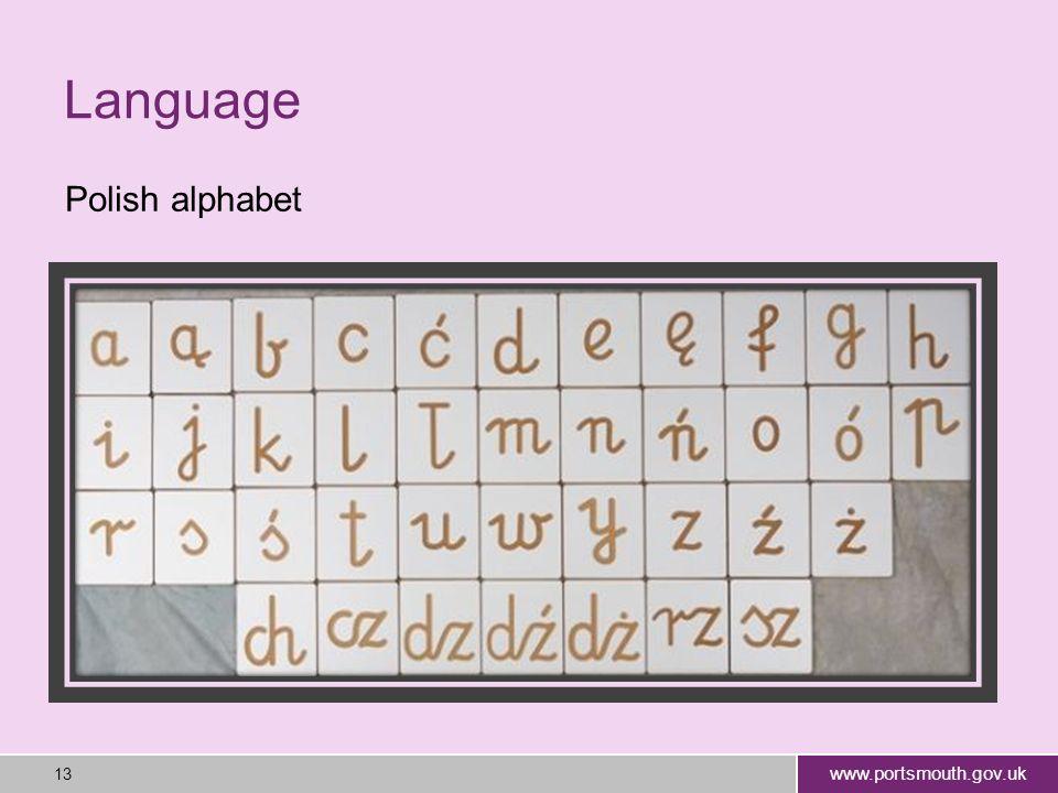 www.portsmouth.gov.uk 13 Language Polish alphabet
