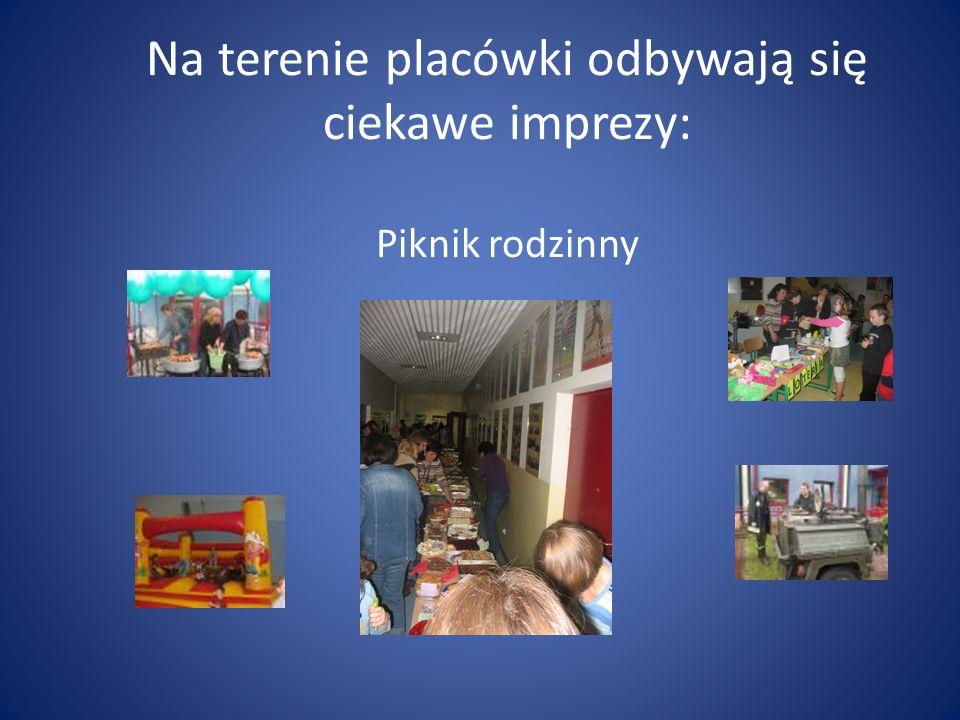 Na terenie placówki odbywają się ciekawe imprezy: Piknik rodzinny