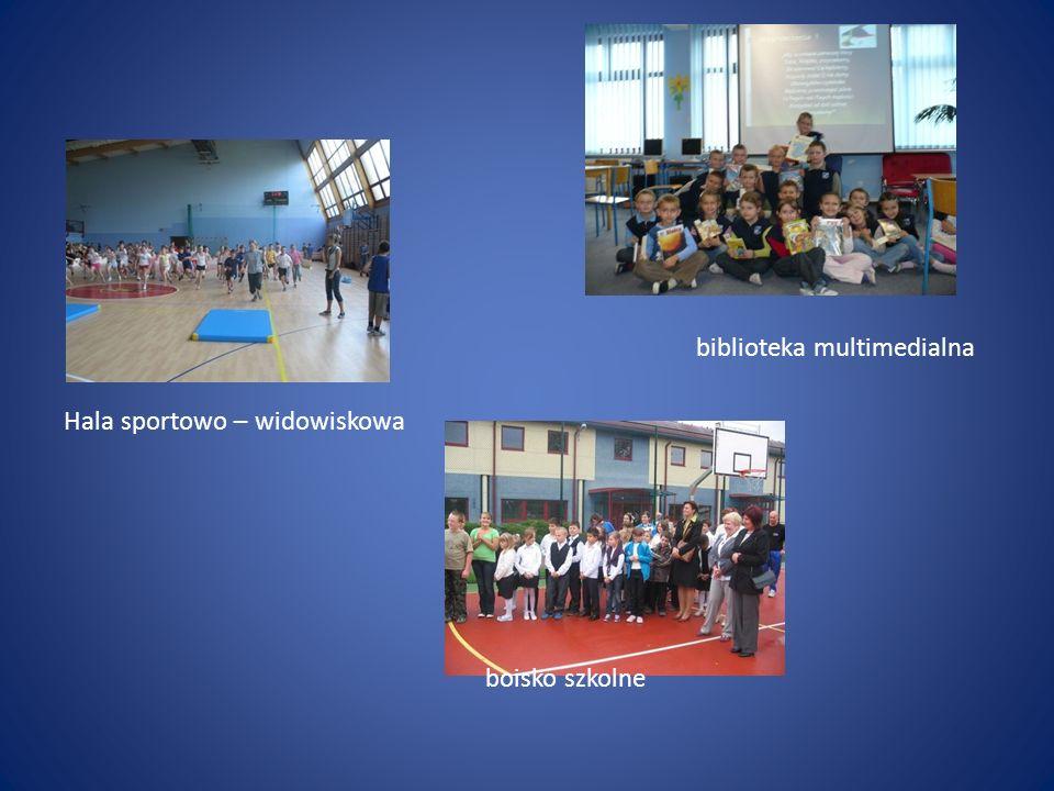 biblioteka multimedialna Hala sportowo – widowiskowa boisko szkolne