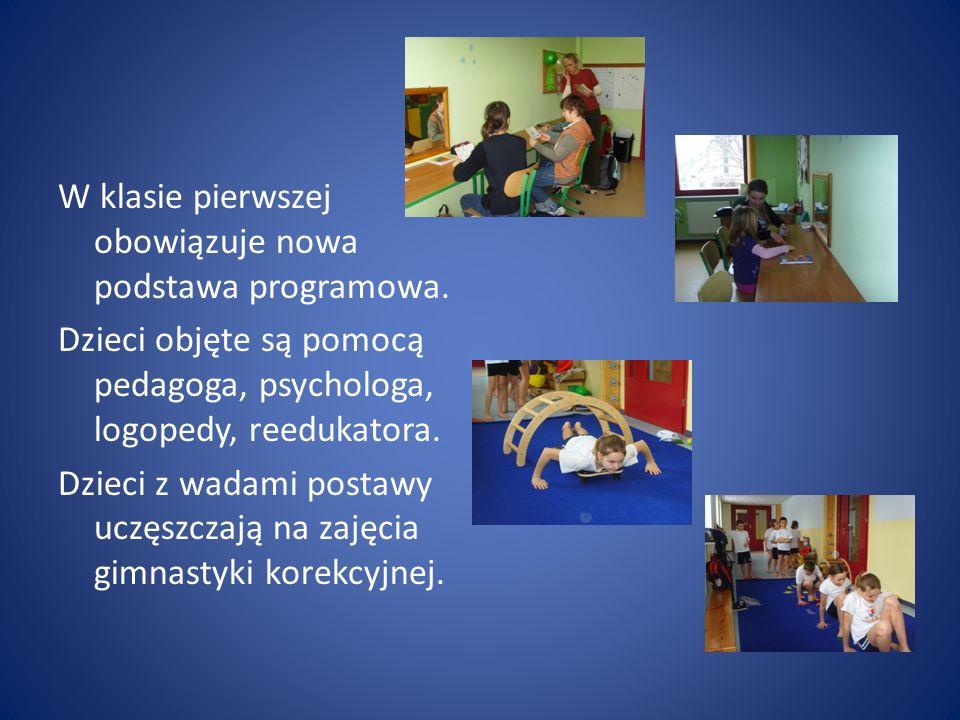 W klasie pierwszej obowiązuje nowa podstawa programowa.