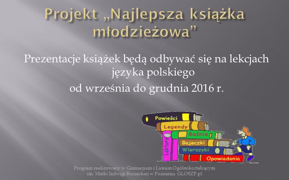 """ """"Moje Wakacje z Książką  """"Zdjęcie z Okładką Książki (sleeveface) Program realizowany w Gimnazjum i Liceum Ogólnokształcącym im."""