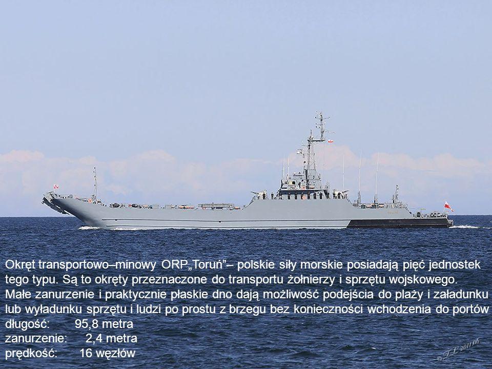 """Korweta zwalczania okrętów podwodnych projektu – ORP """"Kaszub Okręt przeznaczony jest do poszukiwania i zwalczania okrętów podwodnych długość: 82,3 metra prędkość: 26 węzłów"""