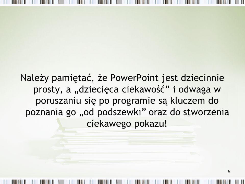 4 Wymagania cd. 1.Ustawienie tła slajdów Projekt slajdów – pobranie szablonu z witryny Microsoftu.