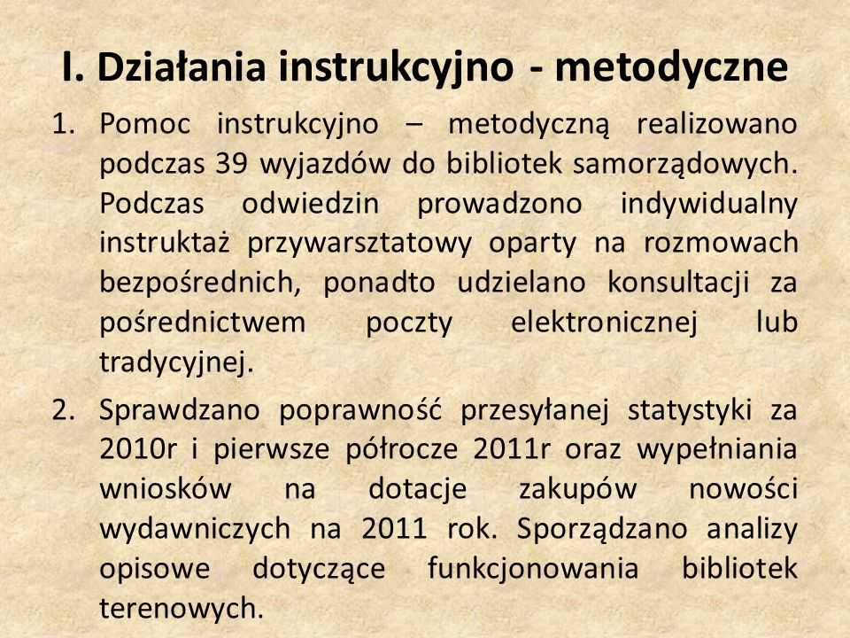VI Zbiory biblioteczne 1.