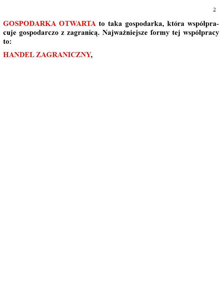 32 NARZĘDZIA POLITYKI HANDLOWEJ CŁA Kwoty (limity) importowe Dobrowolne ograniczenia eksportu Kampanie propagandowe