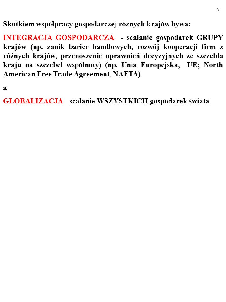 47 POLITYKA HANDLOWA: SPÓR O PROTEKCJONIZM Argumenty przeciwko wolnemu handlowi: a) O ochronie miejsc pracy.