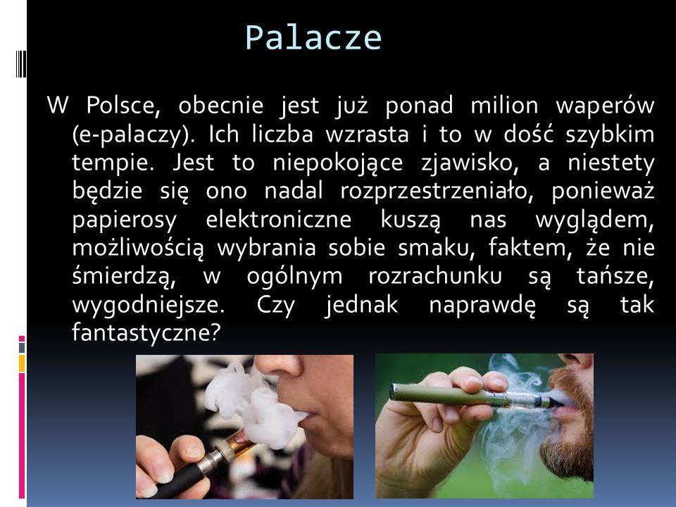 Palacze W Polsce, obecnie jest już ponad milion waperów (e-palaczy).