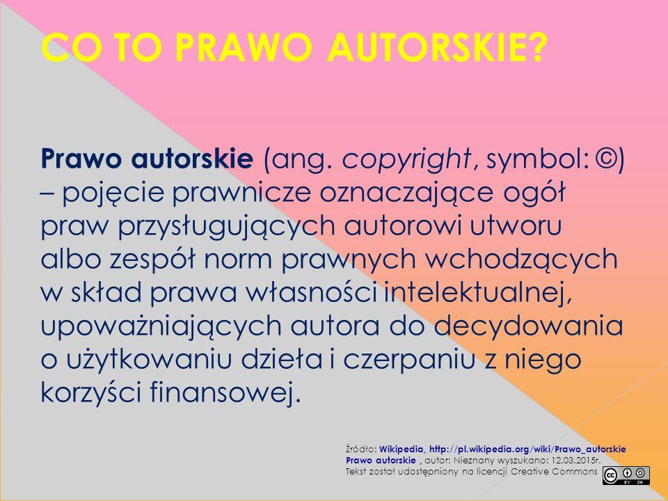 Ochrona swoich praw autorskich.