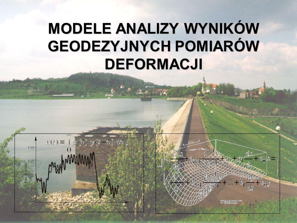 """ZAGADNIENIA 1.Systematyka prac geodezyjnych w badaniach deformacji obiektów inżynierskich 2.Aktywność Grupy Roboczej WG 6.1 """"Pomiary i analizy deformacji Komisji 6 FIG 3.Klasyfikacja modeli analizy deformacji 4.Modele zgodności 5.Modele kinematyczne 6.Modele statyczne i dynamiczne 7.Modele parametryczne i nieparametryczne 8.Wybrane metody opisu modelu deformacji 9.Przykłady różnych modeli analizy deformacji"""
