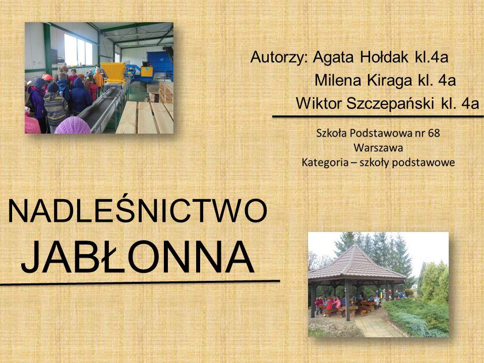 NADLEŚNICTWO JABŁONNA Autorzy: Agata Hołdak kl.4a Milena Kiraga kl. 4a Wiktor Szczepański kl. 4a