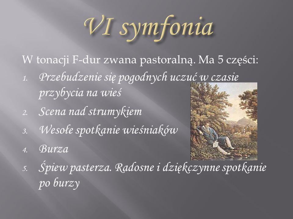 W tonacji c-moll nazywana symfonią przeznaczenia, jest refleksją własnych, bolesnych przeżyć.