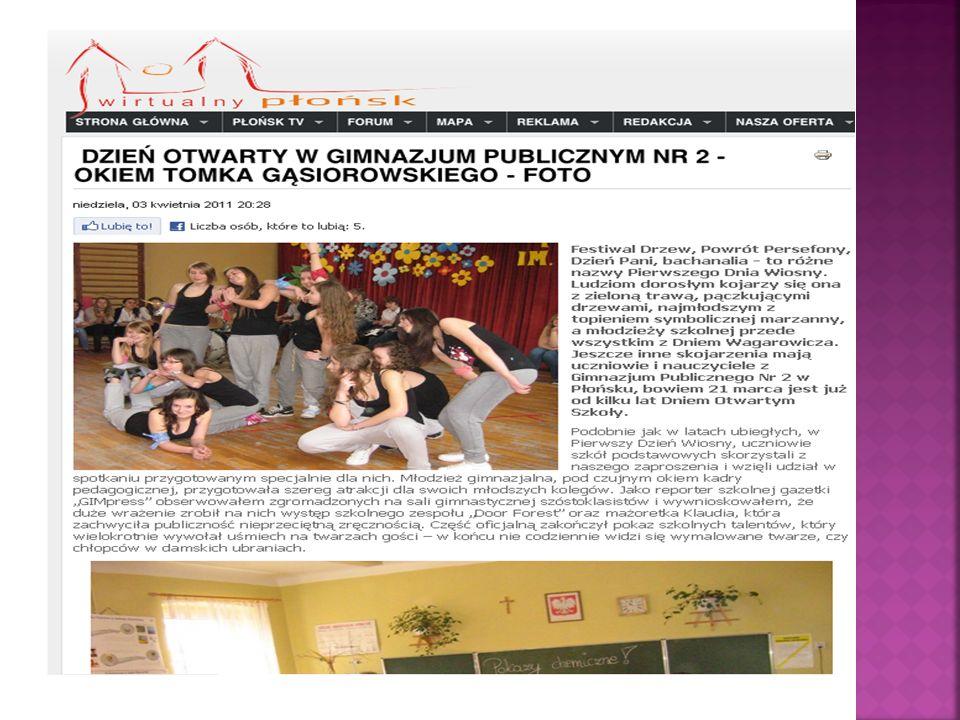 Wspólnym sukcesem okazała się wizyta w siedzibie portalu Wirtualny Płońsk .