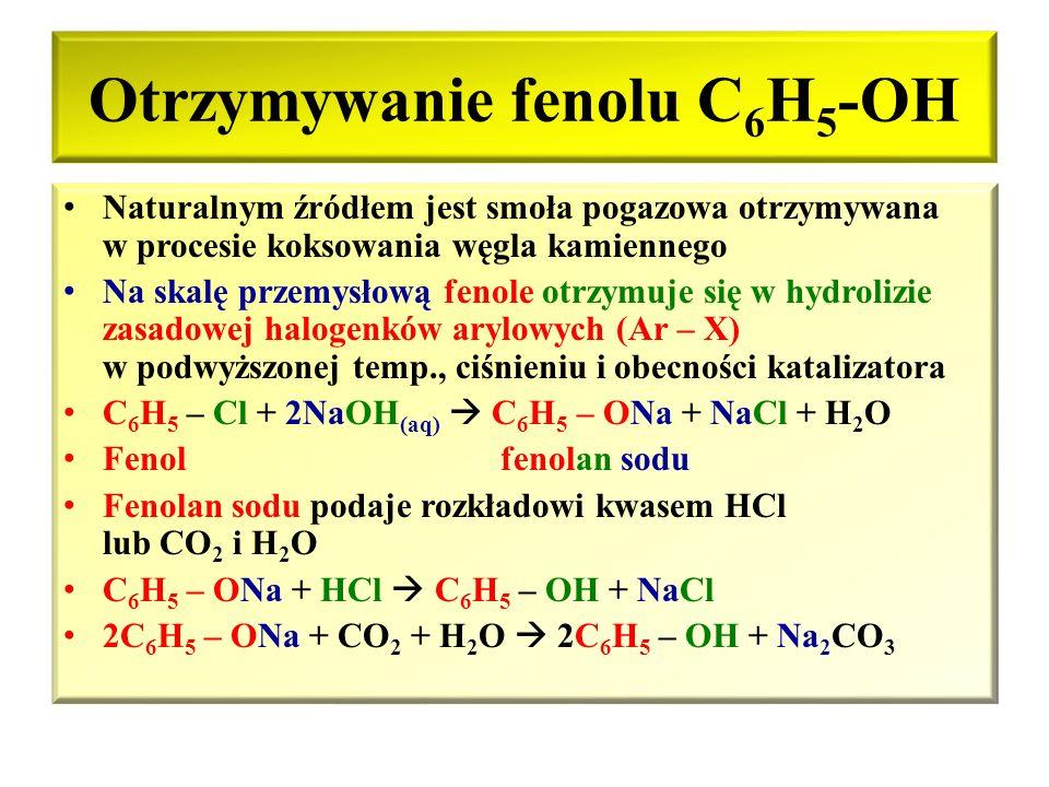 Homologi fenolu Krezole (metylofenole) – monohydroksylowe pochodne metylobenzenu – toluenu: OH OH OH | CH 3 | | CH 3 | CH 3 2-metylofenol 3-metylofeno