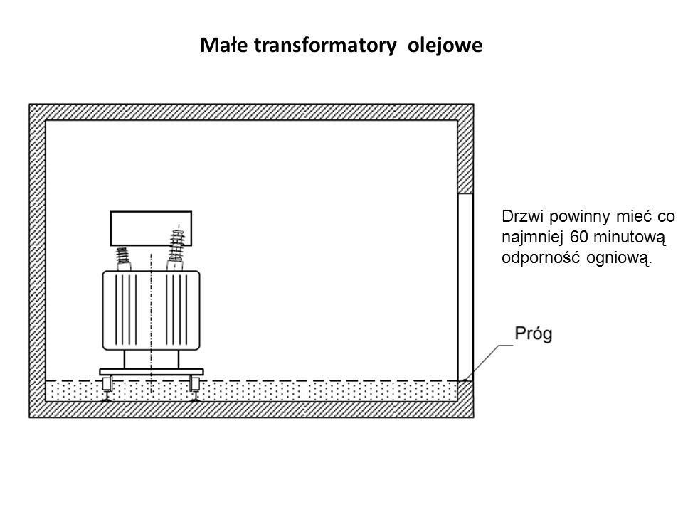 Małe transformatory olejowe Drzwi powinny mieć co najmniej 60 minutową odporność ogniową.