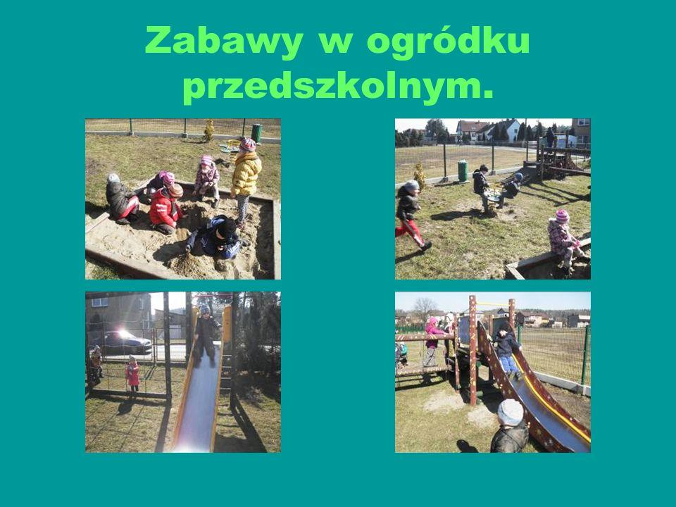 Zabawy w ogródku przedszkolnym.