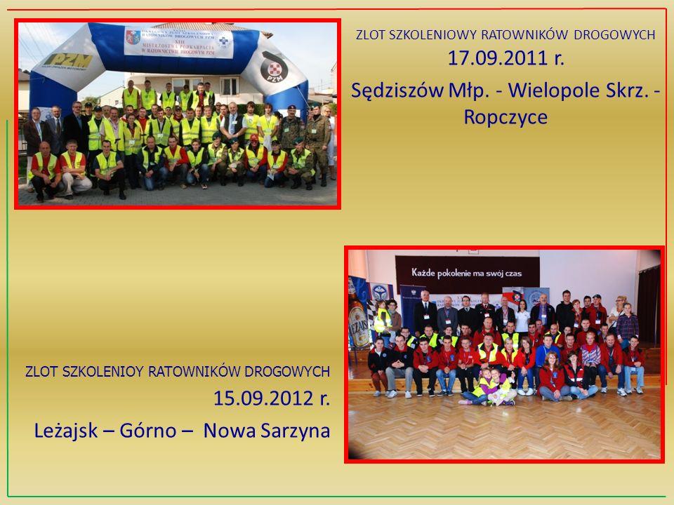ZLOT SZKOLENIOY RATOWNIKÓW DROGOWYCH 15.09.2012 r.